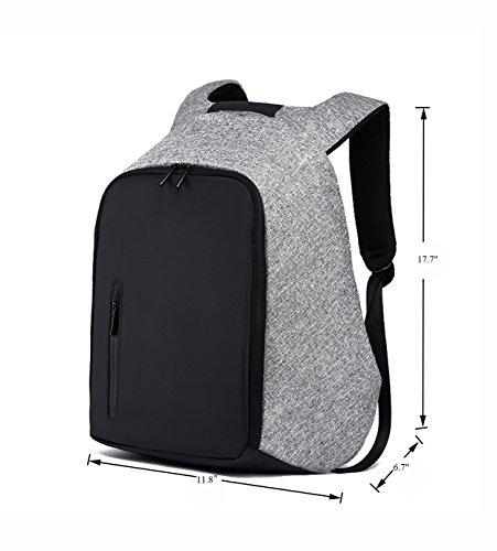 suzone multifuncional portátil profesional mochila grande al aire libre Viajes Senderismo Bolso de hombro mochila con puerto de carga USB, mujer hombre, gris gris