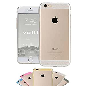 iPhone 6 Case, (4.7inch) Glitter Jelly Color Soft TPU GEL Protective Vallt Case (Does NOT Fit Apple i Phone 5 5s 5c 4 4s or 6 Plus 5.5 Inch Screen) - Lifetime Guarantee (Silver / Clear)