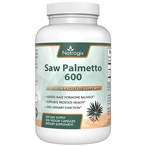 Price comparison product image 600mg Saw Palmetto 200 Capsules For Prostate Health - Extract & Berry Veggie Capsule To Reduce Frequent Urination - DHT Blocker To Fight Hair Loss [Money Back Guarantee] (200 Veggie Capsules)