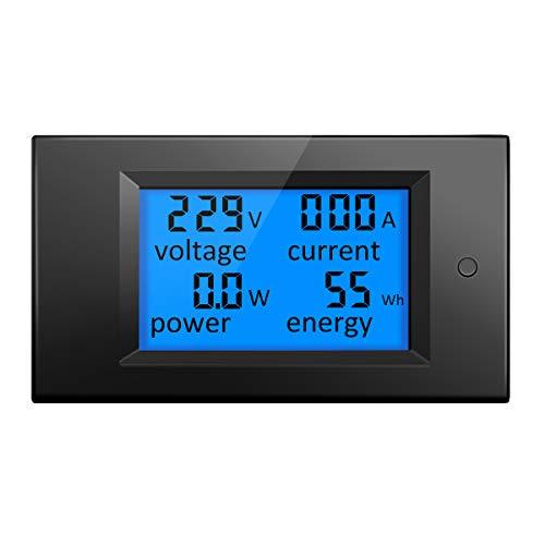 ELEGIANT AC 80-260V 20A Digital Current Voltage Amperage LCD Power Panel Meter Power Energy Meter Ammeter Voltmeter DC Volt Amp Testing Gauge Monitor