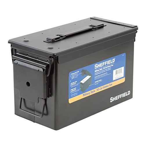 Sheffield 12621 Military Style .50-Cal Ammo Can
