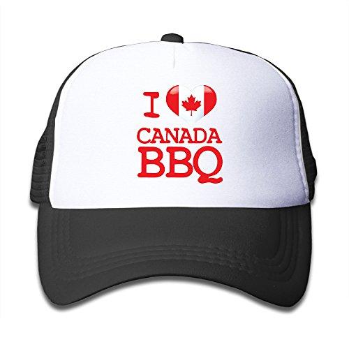 Henzhudi I Love Canada BBQ Unisex Grid Baseball Caps Adjustable Nice Icon Baseball Cap Customize Black