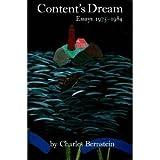 Content's Dream, Charles Bernstein, 0940650568