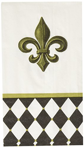 Amscan Party in Style Decorative Guest Hand Towels, Paper Pack of 16 Childrens Napkins, Fleur De Lis, 4