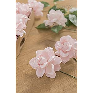 Ling's moment Artificial Gardenia Flowers w/Stem for DIY Wedding Bouquets Centerpieces Arrangements Party Baby Shower Home Decorations 9