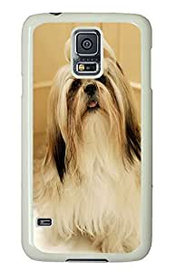 Samsung S5 case thin covers Shih Tzu Dog PC White Custom Samsung Galaxy S5 Case Cover