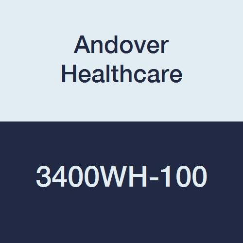 Andover Healthcare 3400WH-100 Coflex Non-Woven Cohesive Self-Adherent Wrap, 15' Length, 4'' Width, White, Latex Bulk (Pack of 100)