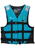 Adult Life Jackets for Boating Kayaking River Men Women with Zipper Swimming Life Vest Plus Size