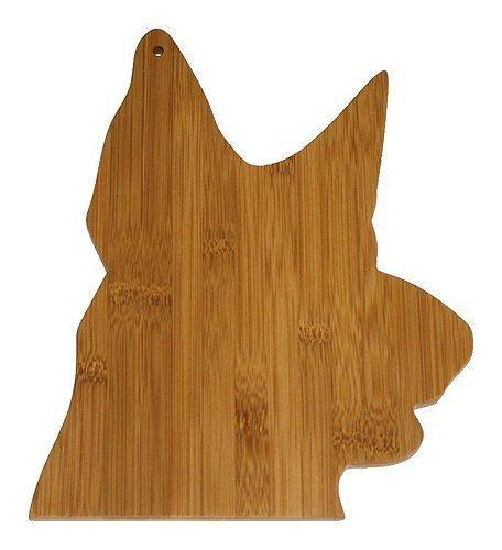 Una mascota proyecto pastor alemán de bambú tabla de cortar