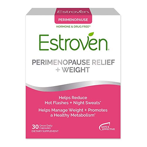 Estroven Peri/Menopause Support + Weight Management - With Ingredients to/Formulated to Help Reduce Hot Flashes & Night Sweats* - Helps Manage Menopausal Weight/Weight During Menopause* - 30 Capsules