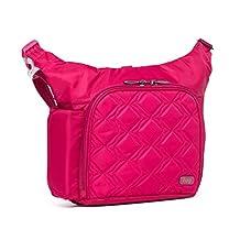 Lug Sidecar Cross Body and Waist Pack Messenger Bag, Rose Pink