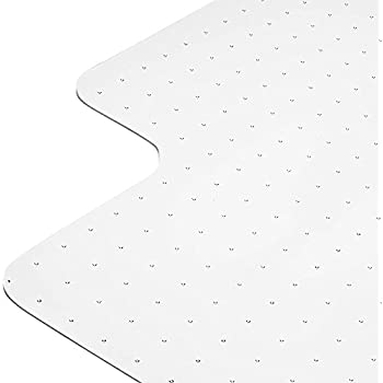 """Heavy Duty Carpet Chair Mat Non Breakable Polycarbonate Thick And Sturdy Highly Transparent Premium Quality Made in Europe For Low And Medium Pile Carpets 36"""" X 48"""" 1/8"""" Shipped Flat"""