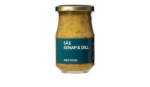 IKEA SAS SENAP Y ENELDO - salsa de salmón / 0.2 kg / 0,2 kg: Amazon.es: Hogar