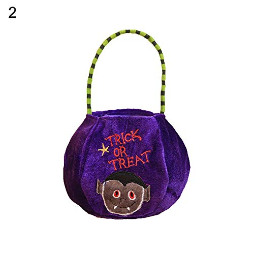 Bags & Wrapping Supplies - Halloween Candy Bag Kids Trick Or Treat Velvet Cloth Gift Pouch Party - Orange Pouch Jewelry Bag Sash 24pin Purple Supplies Velvet Gift Bag Pack Pouch Candy Pink Mint P -
