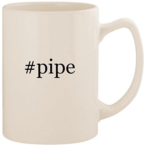 #pipe - White Hashtag 14oz Ceramic Statesman Coffee Mug Cup
