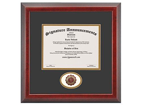 - Signature Announcements Eastern Kentucky University (EKU) Undergraduate and Graduate Graduation Diploma Frame with Sculpted Foil Seal (Cherry, 16 x 16)