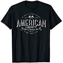 American Liberty Retro T-Shirt With Jersey Back