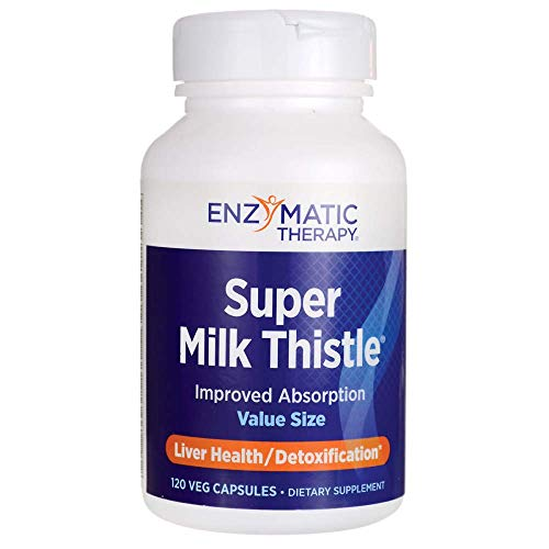 Super Milk Thistle 120 Ultracaps (Enzymatic Therapy Milk Thistle)