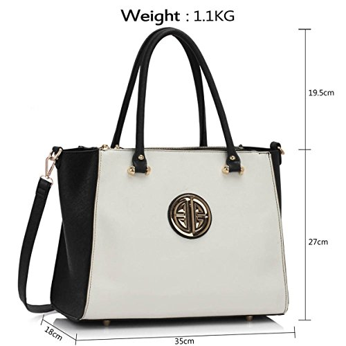 Xardi London, Borsa a spalla donna medium Black/White