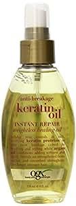 Organix Keratin Instant Repair Weightless Healing Oil, 4-Ounce