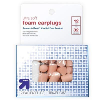 Ultra Soft Foam Ear Plugs with Travel Case - 12pr - up&up™