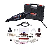 GOXAWEE Rotary Tool Variable Speed - 140pcs Attachment Accessory Kit, Woodworking Drilling tool Kit, Metal Tool Polishing Kit, Stone Tool Sanding Kit, Plastic Cutting Tool Kit, DIY Tool Kit