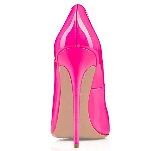 Scarpa Col Davanti High Donna Tacco Rosa Chiuse Ritaglio Edefs Heels Classico Scarpe 5wxgnBv