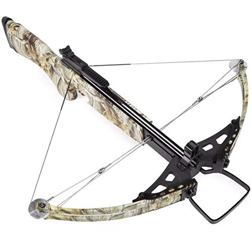 XtremepowerUS Crossbow 180 Lbs 300 fps Hunting Equipment w/Carry Bag, Camo