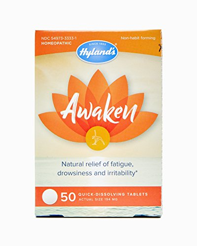 Hylands Awaken Tablets, Natural Relief of Fatigue, Drowsiness, and Irritability, 50 Count