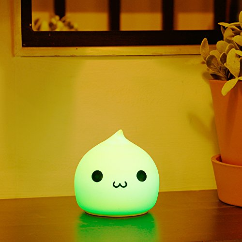 Litake LED Night Light, Battery Powered Night Lights for Kids, Children Soft Silicone Night Light with Warm White, Single Color and 7-Color Breathing Modes for Kids, Baby, Children, Girls (Cute)