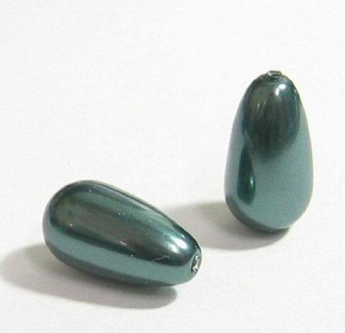 4 pcs Swarovski Crystal 5816 Half Drilled Pearl Drops Tahitian-look 11.5mm / Findings / Crystallized (Tahitian Half Drilled Pearls)