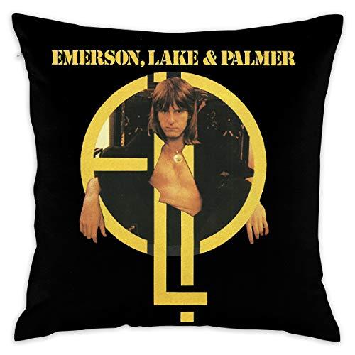 FankTasf Emerson Lake Printed Pillowcase Square Decorative Pillowcase 18 X 18 Inch Cushion Cover Suitable for Living Room Bedroom Sofa Sofa Bed Car Seat