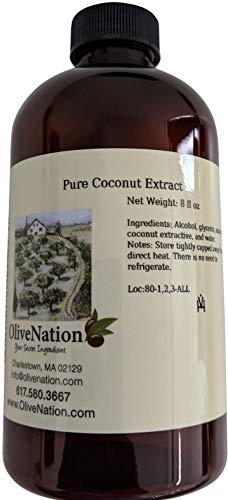 Pure Coconut Extract 4 oz, 4 Ounce -