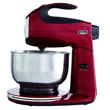 Sunbeam FPSBSM2104 Heritage Series 350-Watt Stand Mixer, Red