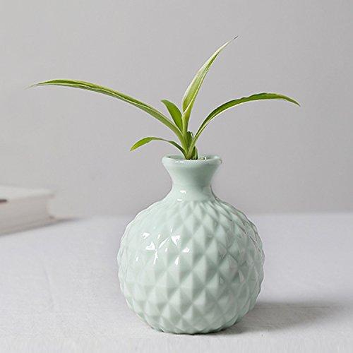 GeLive Ikebana Vase Flower Arrangement Bud Vase Hydroponics Macaron Colorful Ceramic Decorative Vase (Light Green) (Vases Green Ceramic)