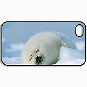 Personalized Protective Hardshell Back Hardcover For iPhone 4/4S, Design Nature Design Design In Black Case Color
