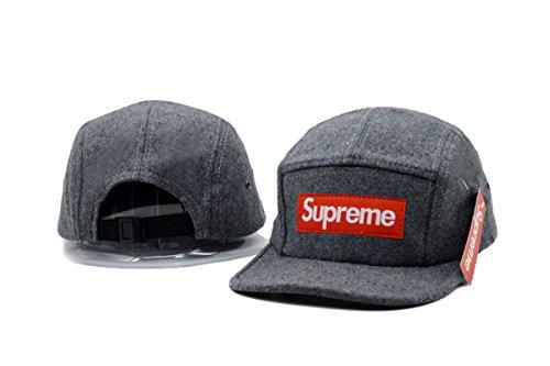 4c0c94e7ce1 SUPREME Adjustable Cap Mens Baseball Snapback Hats Grey One Size - e ...