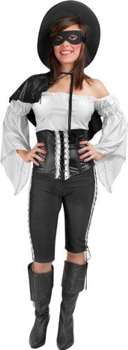 Female Zorro Costume (Zorro Costume - Medium/Large - Dress Size)