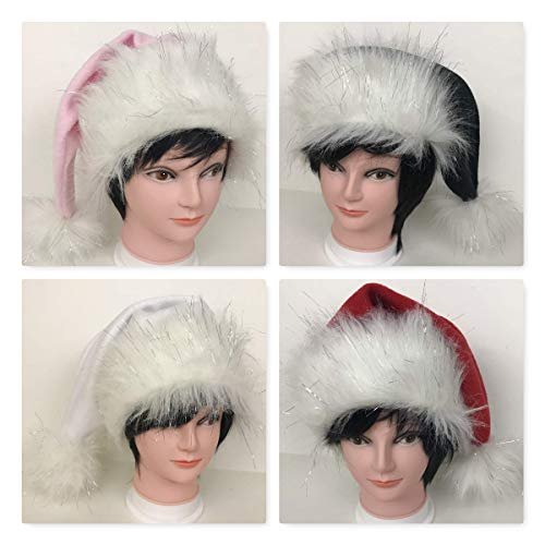 Long Faux Fur Santa Hat, You choose the colors and the size, Adult and Kids, Newborn Baby Toddler, Holiday Hat, Alternative Fancy Furry Fuzzy Accessory, Odd XXS XS S M L XL XXL XXXL Plus Size