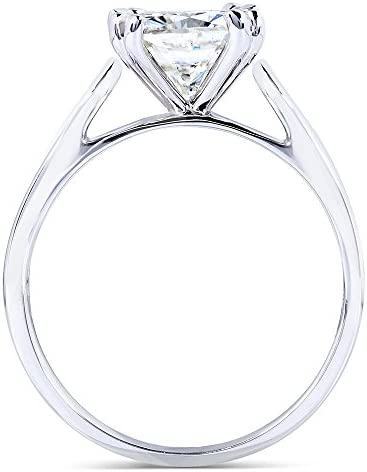 Kobelli Forever One (D-F) Colorless Moissanite Solitaire Ring 2 CTW 14k White Gold