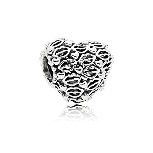 Pandora Love and Kisses Silver Charm