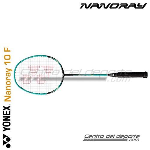 Yonex NANORAY Series Badminton Racket with a Half-Length Cover (NR10F-Black/Green)