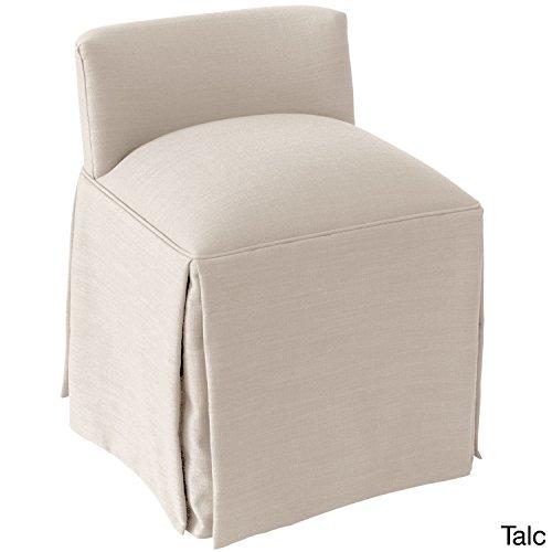 Skyline Fabric Chair (Skyline Furniture Linen Fabric Modern Vanity Chair Linen Talc)