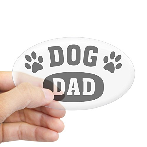 CafePress Dog Dad Oval Bumper Sticker, Euro Oval Car Decal