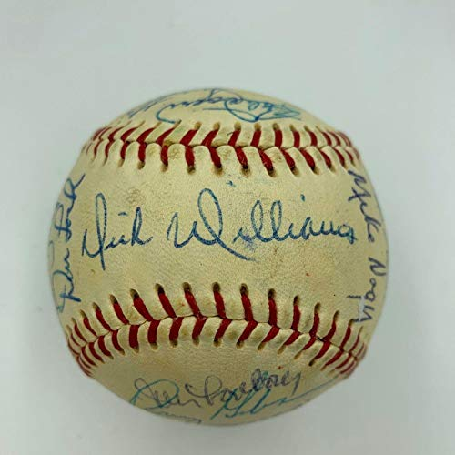 Nice 1969 Boston Red Sox Team Signed Baseball Carl Yastrzemski 7.5 NM - PSA/DNA Certified - Autographed Baseballs