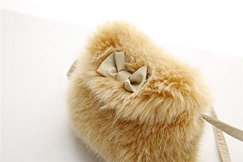Shoulder Mini Princess Bag Girl Drawstring Kid Bigood Tote Handbag Crossbody Fur Yellow HAfqgg7ztw