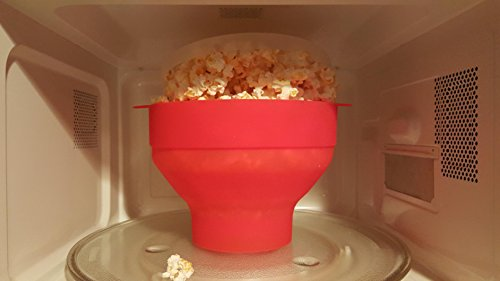 LuxKitto Microwave Popcorn Popper, Collapsible Silicone Bowl, - Import It  All
