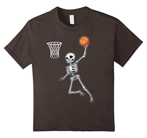 Kids Skeleton Basketball Halloween TShirt Slam Dunk Costume Gifts 12 Asphalt - Basketball Halloween Costumes