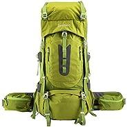 Ubon Internal Framed Hiking Backpack 60L Camping Backpack with Rain Cover