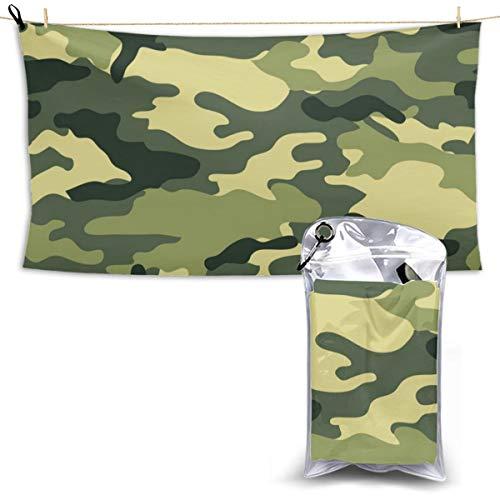 (Aomevas Beach Towel Military Camo Woodland Camoflage Print Pool Towel Quick Dry Bath Towel for Bachelor Party 27.5'' X 51'')